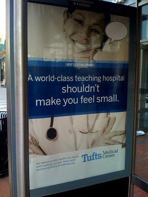 An ad for Tufts Medical Center