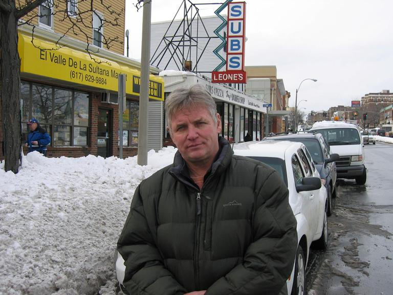 Bobby Martini in Somerville's Winter Hill neighborhood. (Anthony Brooks/WBUR)