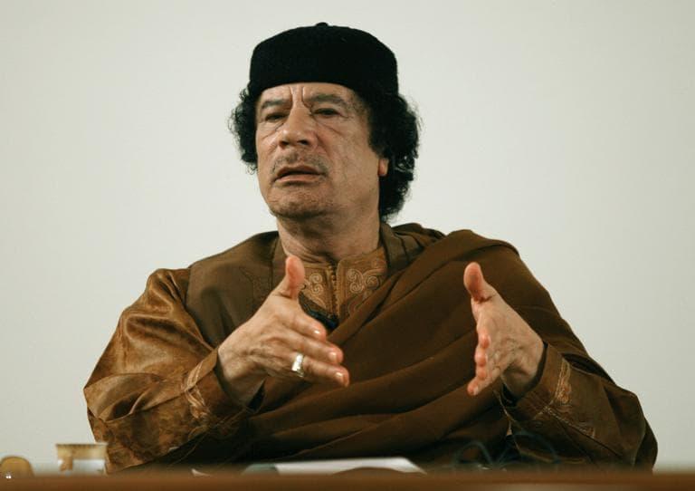 Libyan leader Moammar Gadhafi. (AP)