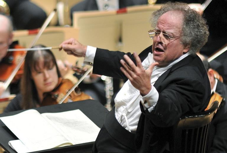 BSO Music Director James Levine, here performing in a highly anticipated return to the podium from injury, conducts the orchestra in October 2010. (AP)