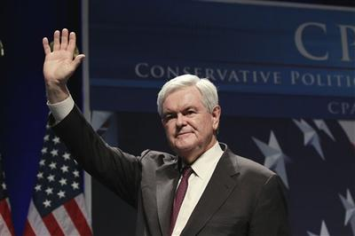 Former House Speaker Newt Gingrich addresses the Conservative Political Action Conference (CPAC) in Washington. (AP)