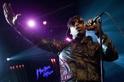 Hip hop singer Talib Kweli performs in Montreux, Switzerland. (AP)