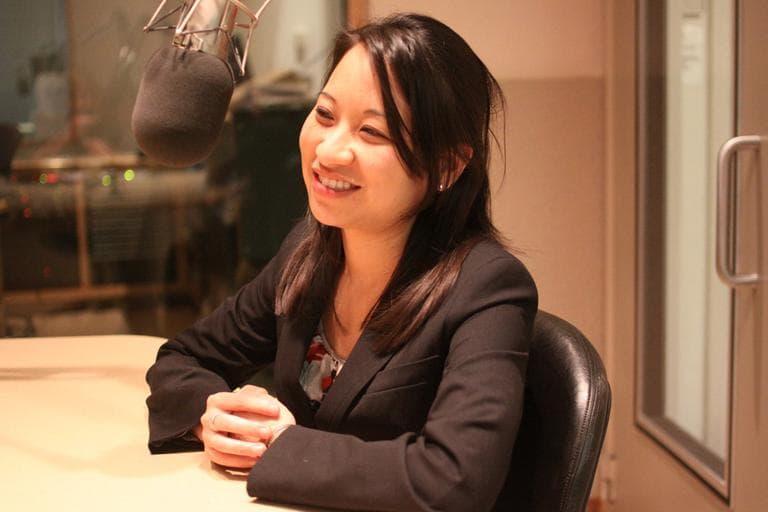 Alice Chen speaks to WBUR's Sacha Pfeiffer. (Kirk Carapezza for WBUR)
