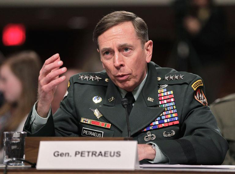 Gen. David Petraeus, commander of U.S. and NATO forces in Afghanistan, testifies on Capitol Hill in Washington on Tuesday. (AP)