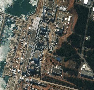 A satellite image shows Fukushima Dai-ichi nuclear plant in Japan. (AP/DigitalGlobe)