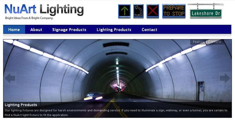 A screenshot of NuArt's website, taken Monday (Click to enlarge)