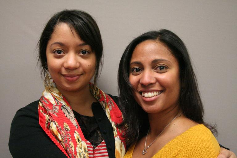 Orpha Rivera, left, with her older sister, Kathleen Rivera Cruz (Courtesy StoryCorps)