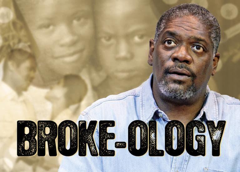 "The poster for ""Broke-ology"" (Photo Mark S. Howard, artwork Melissa Wagner-O'Malley/Courtesy)"