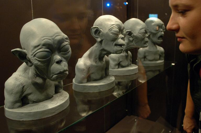 """""""Gollum"""" at """"The Lord of the Rings"""" exhibition at the Movie Park of Potsdam-Babelsberg, Germany. (AP)"""