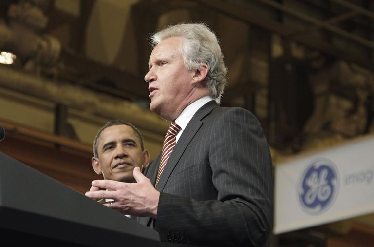 Jeffrey R. Immelt, right, General Electric's chief executive, was appointed by President Obama to head the President's Council on Jobs and Competitiveness. (AP)