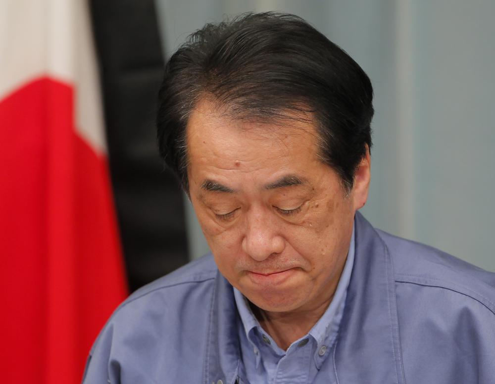 Japanese Prime Minister Naoto Kan speaks during a news conference at his official residence in Tokyo Friday. (AP)