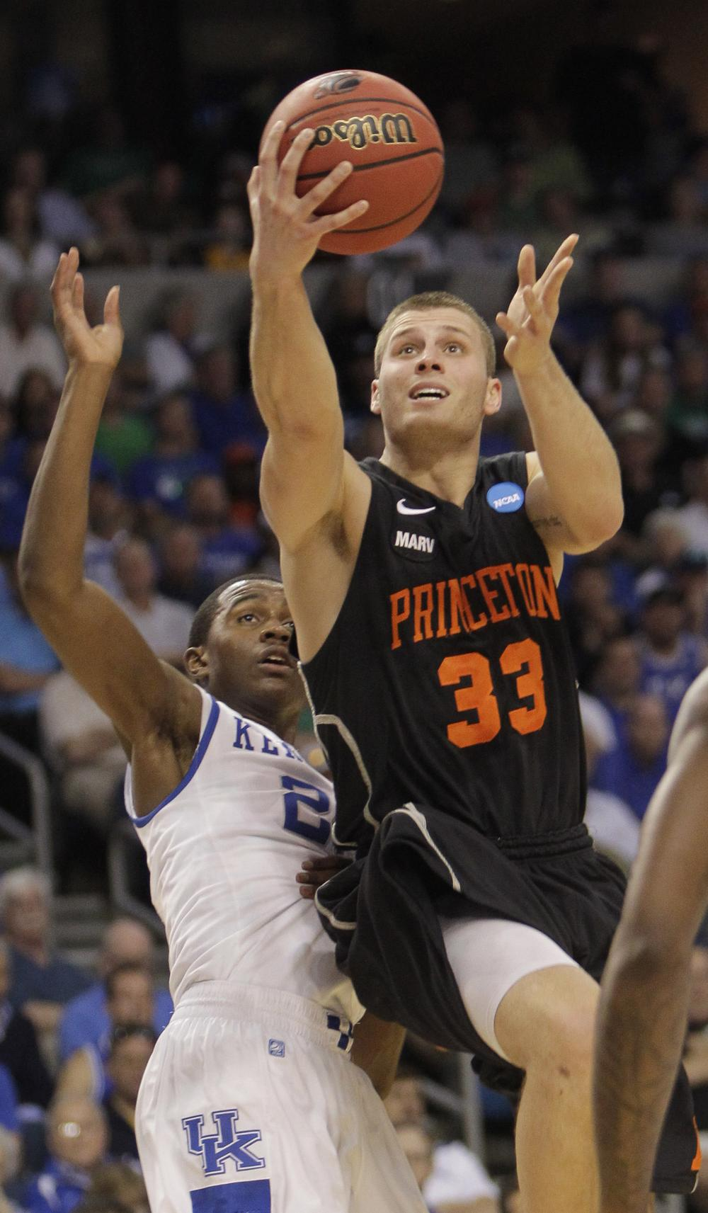 Princeton (13) gave Kentucky (4) a run for their money, but in the end the Ivy League champs fell short in the final seconds. (AP)