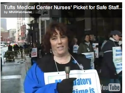 Tufts Medical Center nurses picketed last week for 'safe staffing'