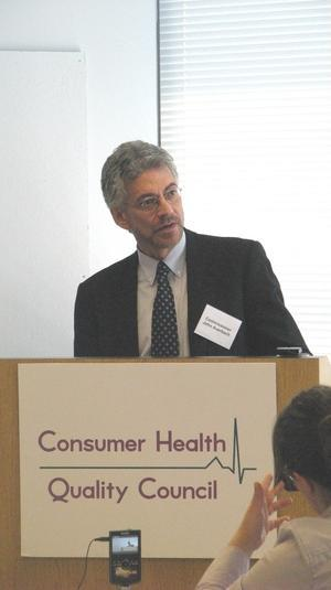 Public Health commissioner John Auerbach speaks at the council's 5th anniversary