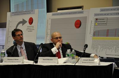 David Morales, Commissioner, Division of Health Care Finance and Policy, at cost-control hearings last year