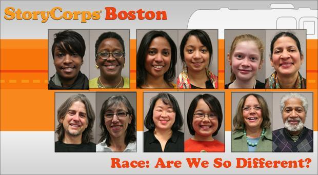 (Images courtesy of StoryCorps; graphic by Jesse Costa/WBUR)