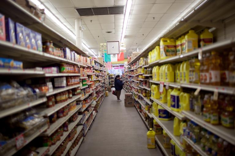 Many Jamaica Plain shoppers depended on the Hi-Lo supermarket. (Nick Dynan for WBUR)