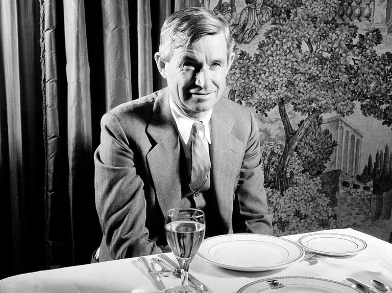 Will Rogers, humorist and actor, at a benefit dinner and dance in Nov. 1934 (AP)