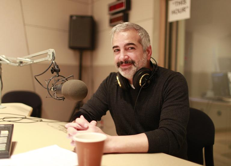 The New York Times' Anthony Shadid in the On Point studios. (Nicholas Dynan for WBUR)