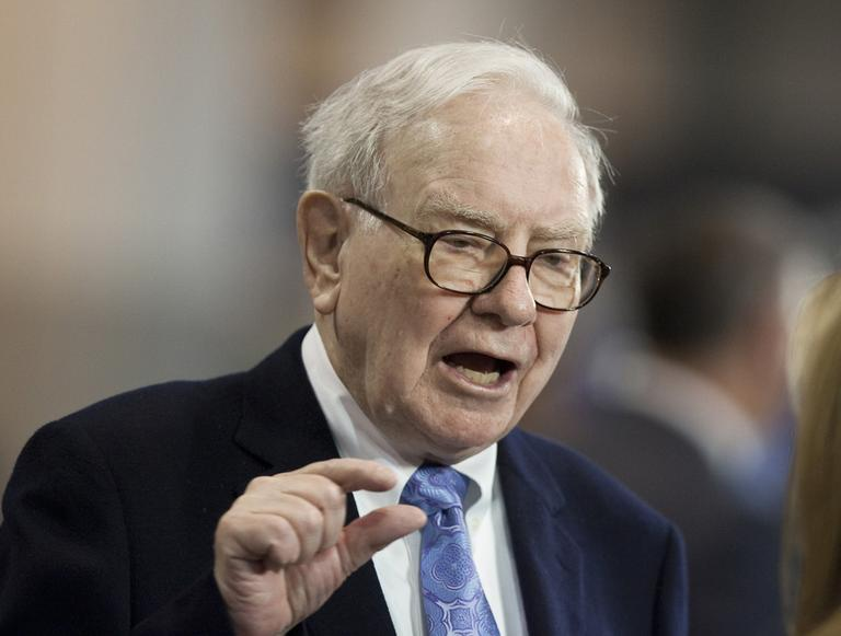 Berkshire Hathaway Chairman and CEO Warren Buffett speaks to a reporter before the 2010 annual shareholders meeting, in Omaha, Neb. (AP)