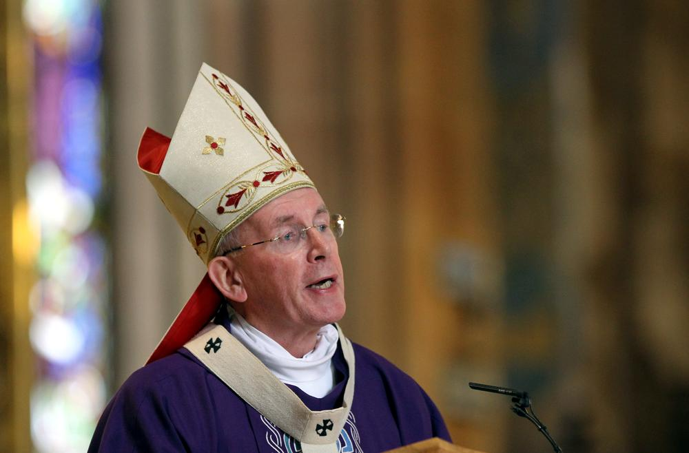 Primate of All Ireland Cardinal Sean Brady at St Patrick's Cathedral in Armagh, Northern Ireland. (AP)