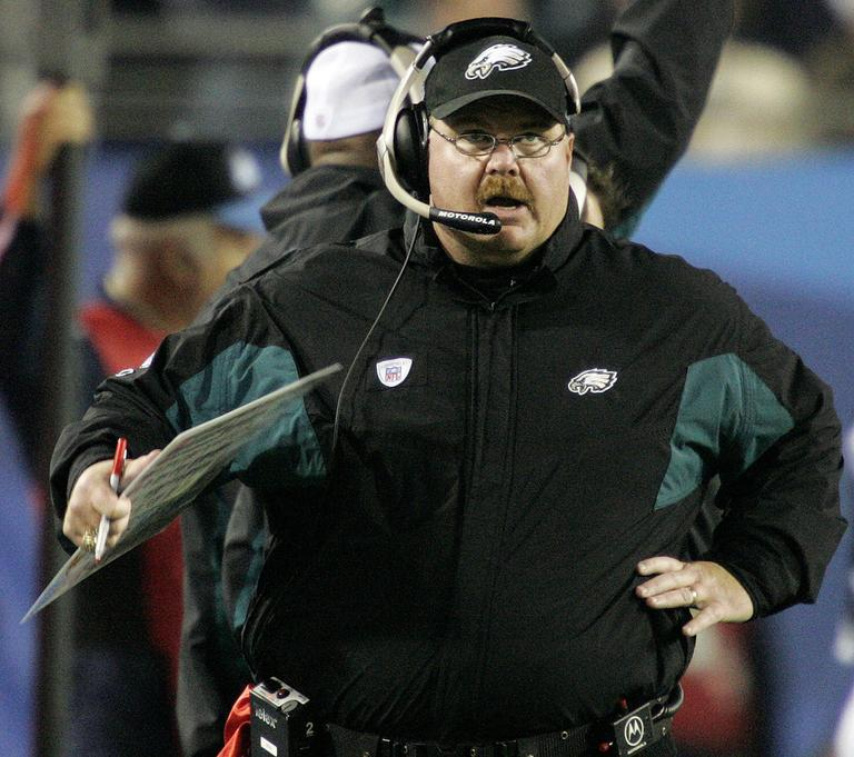 Andy Reid has five NFC title game appearances and no Super Bowl wins. (AP)