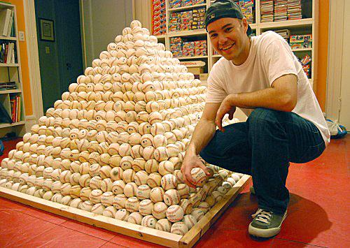 Baseball enthusiast Zack Hample has collected more than 4,000 baseballs from dozens of Major League parks. (Courtesy of Anchor)
