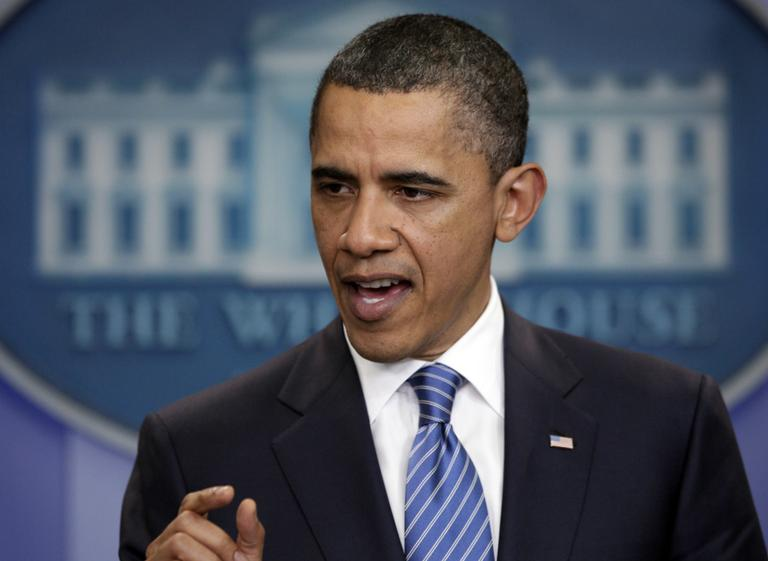 President Obama speaks to the media after a meeting with House Speaker John Boehner, R-Ohio, and Senate Majority Leader Harry Reid, D-Nev., at the White House. (AP)