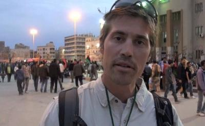 A screengrab of James Foley reporting from Libya. (Courtesy)