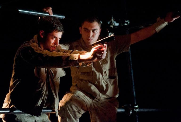 """Actors in BU's production of  """"Fallujah"""" (Kalman Zabarsky for Boston University/Courtesy)"""