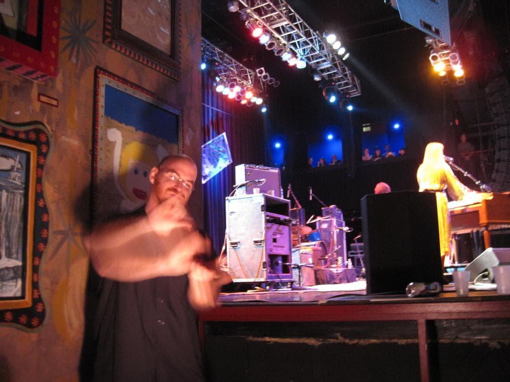 Aaron Malgeri interpreting a Grace Potter and the Nocturnals Concert. (Alissa Greenberg)