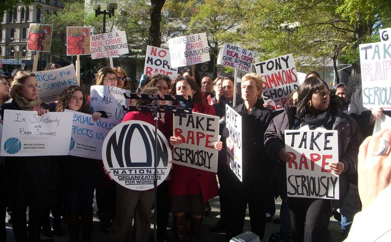 A 2010 rally organized by the National Association of Women in New York. (WeNews/Flickr)