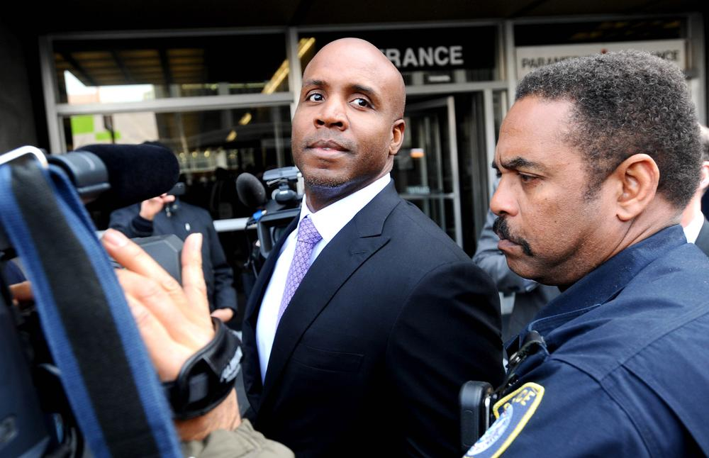 Barry Bonds, who holds the record for most career home runs has been convicted of obstruction of justice. (AP)