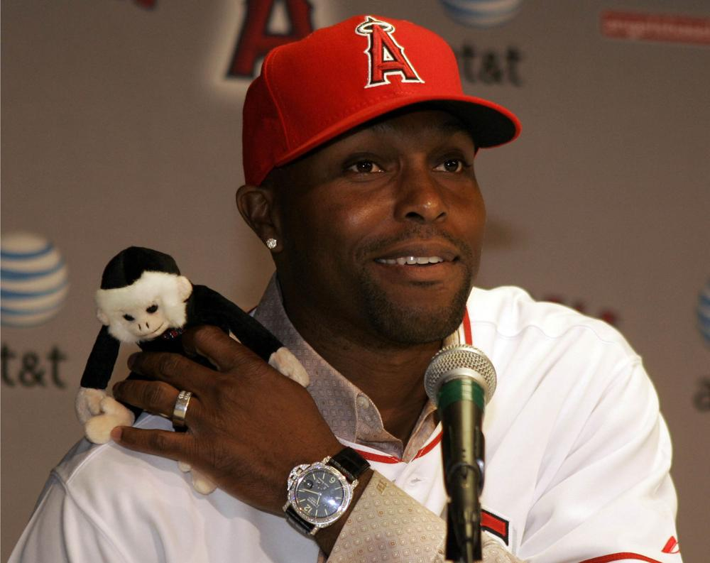 The Los Angeles Angels' Rally Monkey has a new rival in the world of baseball monkey business. (AP)