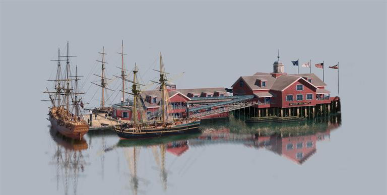Rendering of the Boston Tea Party Ships & Museum (Courtesy)