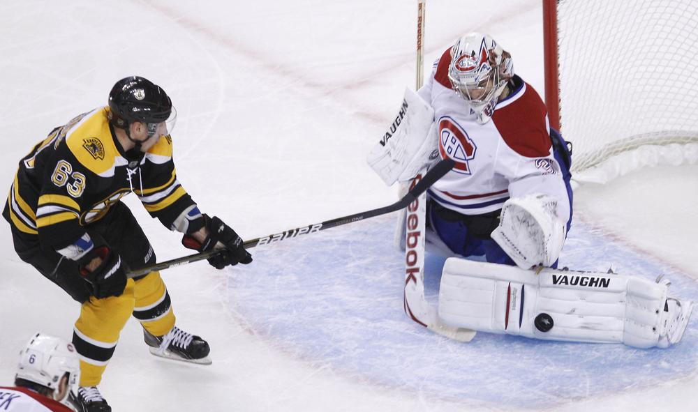 Montreal Canadiens goalie Carey Price started the playoffs strong, but fell apart in the Game 4 overtime against the Bruins. (AP)