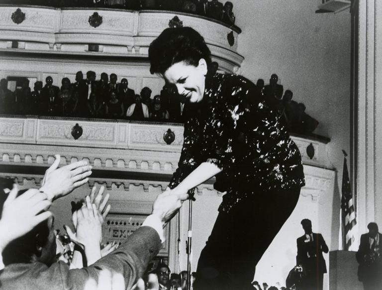 This 1961 photo courtesy of Carnegie Hall shows Judy Garland during a performance at Carnegie Hall in New York. (AP)