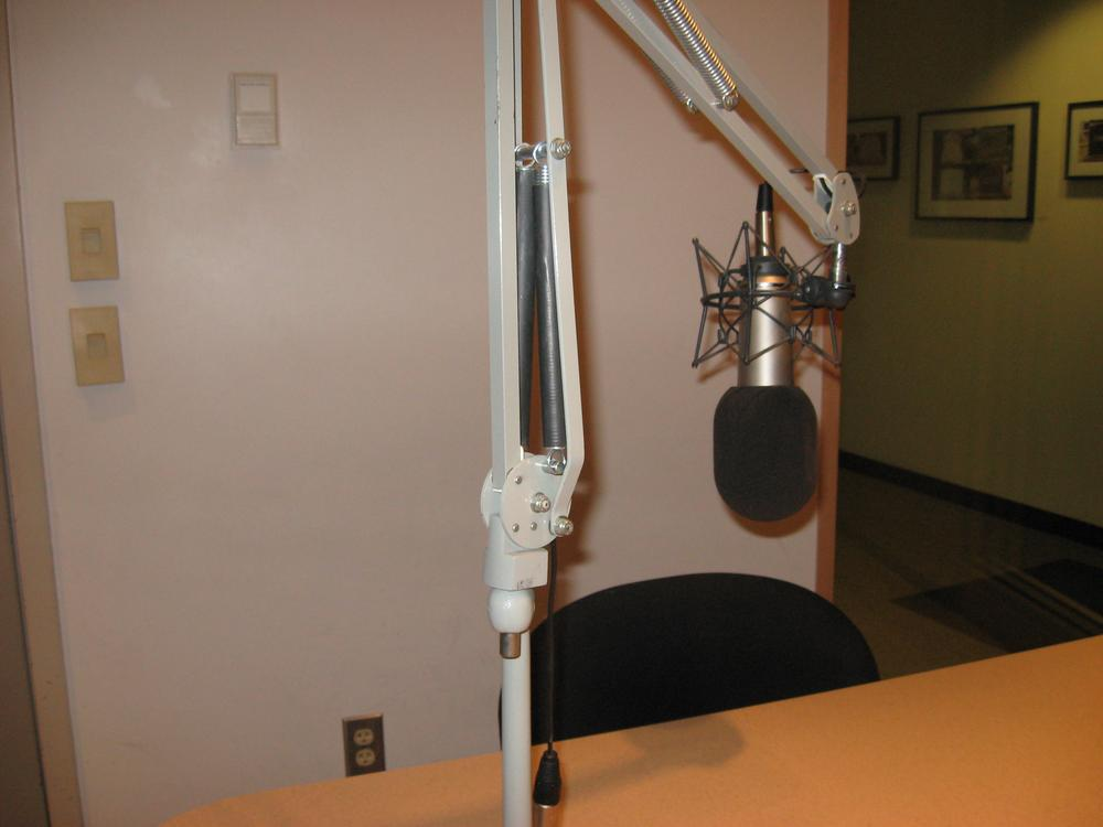 The studios of WAFD in Pocomoke, Md. are empty from 11 a.m. to 1 p.m. weekdays, as the station turns its airwaves over to an automated Twitter feed.