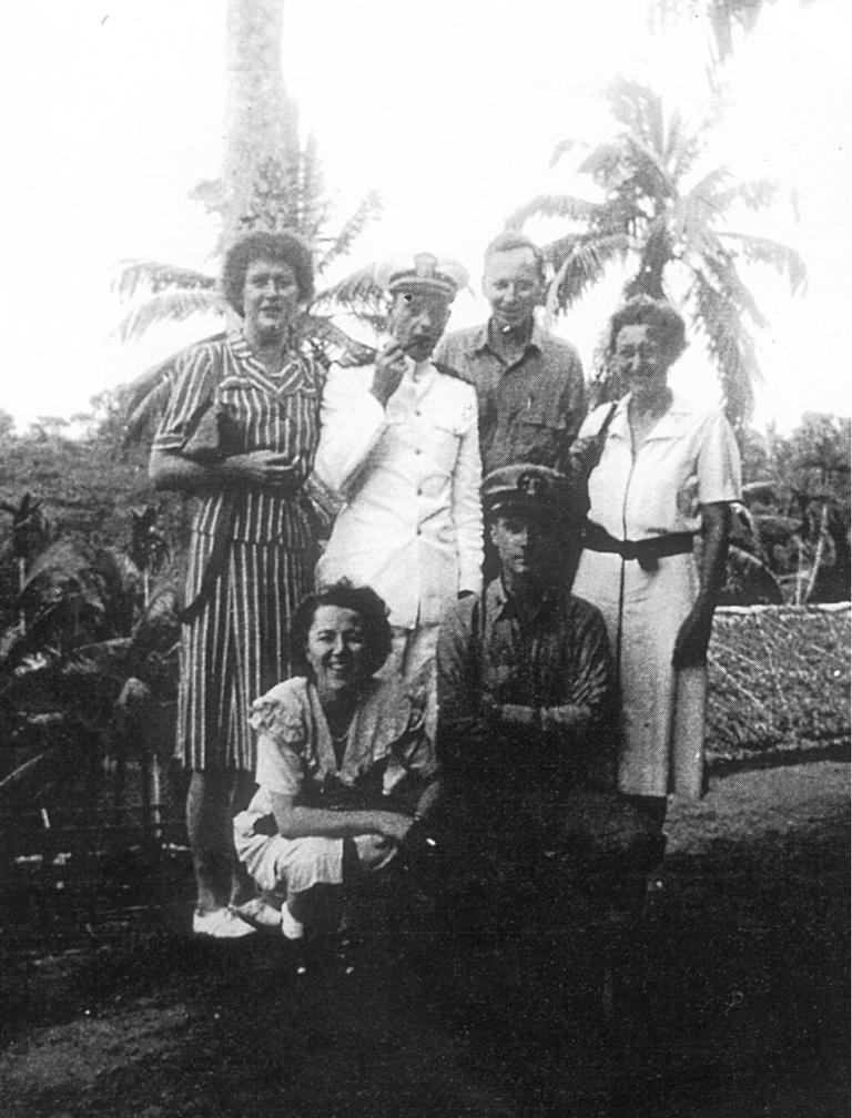 Julia McWilliams (Child) with OSS colleagues. (Courtesy Simon and Schuster/The OSS Society)