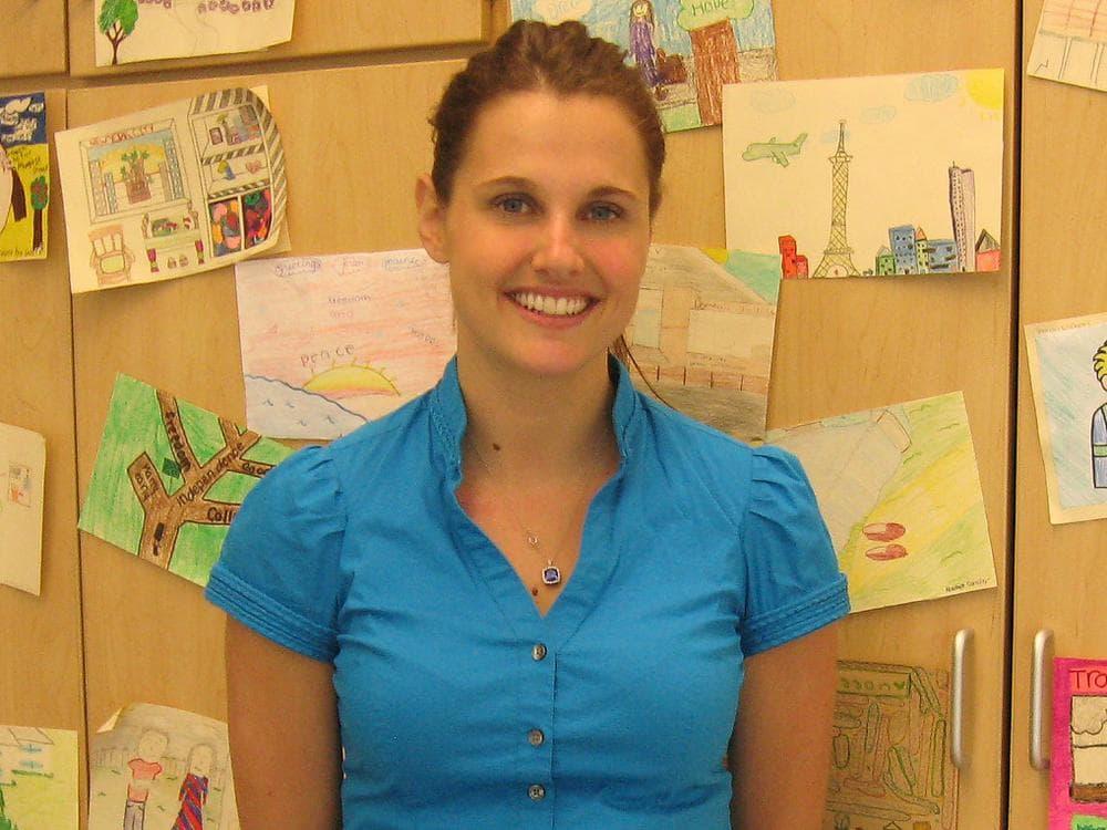 Student teacher Christine Dunn (Sacha Pfeiffer/WBUR)
