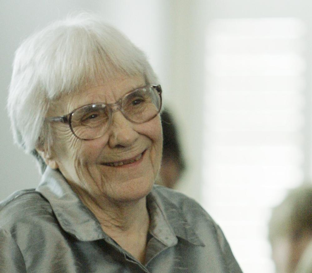 Author Harper Lee during a ceremony honoring new members of the Alabama Academy of Honor in 2007. (AP)