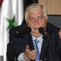 Syrian Foreign Minister Walid Moallem speaks during a news conference in Damascus, Syria, Wednesday, June 22, 2011. (AP)