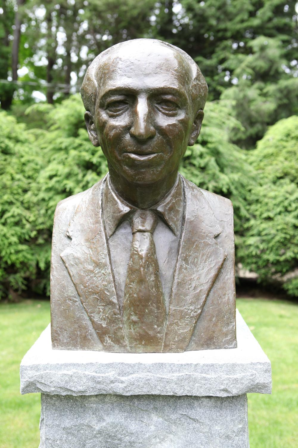 The Tanglewood Music Center unveiled a new sculpture commemorating the late American composer Aaron Copland (Courtesy)
