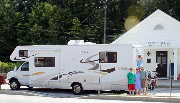 Wendy Swart Grossman with her family and their RV (Courtesy Wendy Swart Grossman)