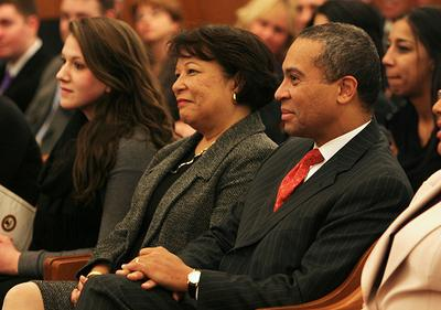 Diane Patrick with her husband, MA governor Deval Patrick