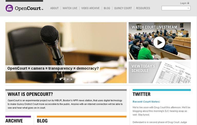 Screen shot of OpenCourt.us (WBUR)