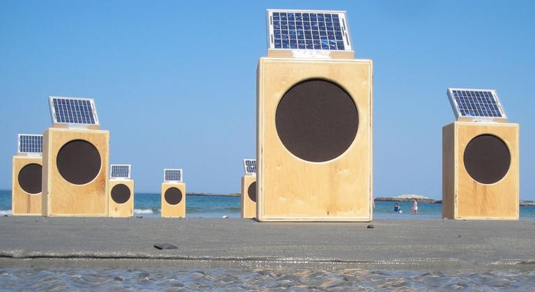 The sun boxes on a Cohasset beach in April 2010 (Courtesy Craig Colorusso)
