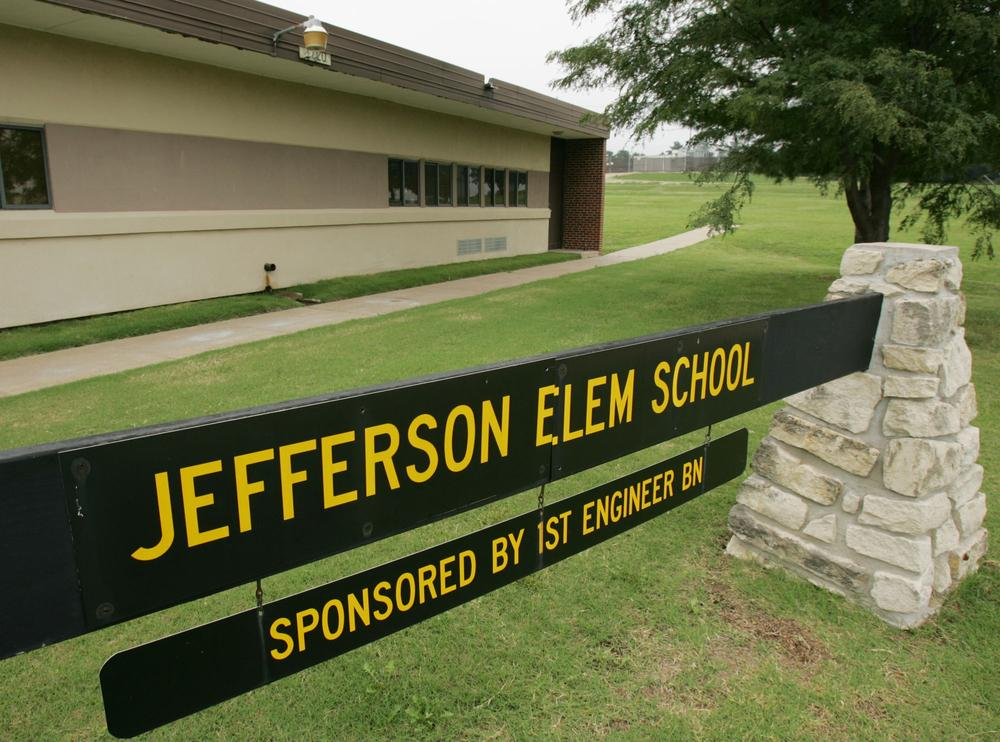 Jefferson Elementary School on Custer Hill at Fort Riley, Kan. (AP)
