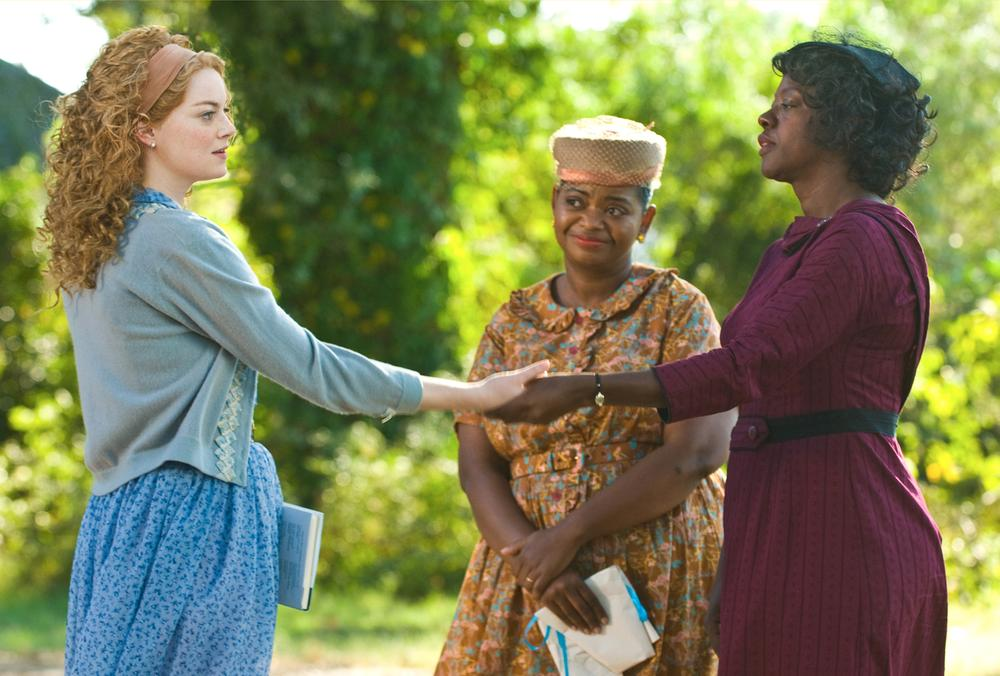"""Emma Stone, Octavia Spencer and Viola Davis in a scene from """"The Help"""" (AP)"""