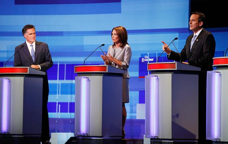 Republicans debated in Iowa on Thursday ahead of this weekend's pivotal Ames Straw Poll. (AP)